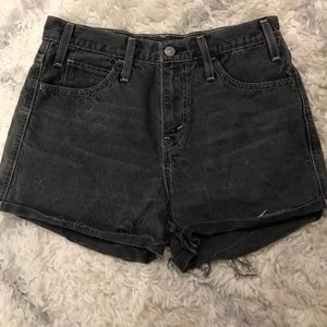 Levi Dark Grey high-waisted shorts